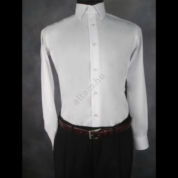 Francesco Uomo, classic fit, fehér férfi ing. Méret: 37