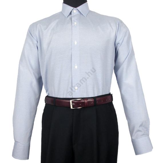 Daniel Figaro, fehér alapon világoskék, fekete, keresztcsíkos férfi ing. Méret: 43