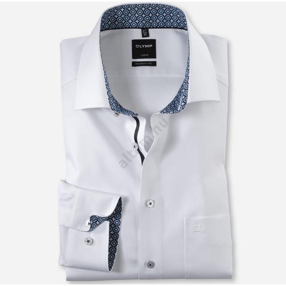 Olymp Luxor modern fit fehér anyagában mintás ing