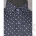 Kép 3/7 - Daniel Figaro, kék alapon fehér-virágszirmos, férfi ing. Méret: 39