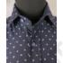 Kép 5/7 - Daniel Figaro, kék alapon fehér-virágszirmos, férfi ing. Méret: 39