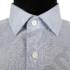 Kép 4/8 - Daniel Figaro, fehér alapon világoskék, fekete, keresztcsíkos férfi ing. Méret: 43