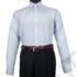 Kép 3/8 - Daniel Figaro, fehér alapon világoskék, fekete, keresztcsíkos férfi ing. Méret: 43