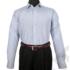 Kép 5/8 - Daniel Figaro, fehér alapon világoskék, fekete, keresztcsíkos férfi ing. Méret: 43